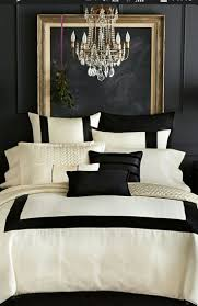 chambre coucher blanc et noir deco blanc noir jaune blanche et ado moderne gris