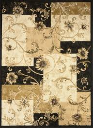 transitional floral area rug 8x11 casual vines scrolls carpet