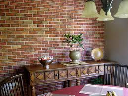 Accent Wall Tips by Faux Brick Wall I Made Using Joint Compound And A Stencil Then