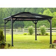 patio gazebo 10 x 12 permanent outdoor canopy u2013 creativealternatives co