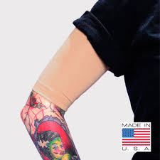 light skin tone half sleeve covers for arms us made ink armor tat2x