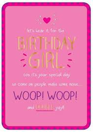 birthday girl birthday girl woop woop birthday humour shine happy jackson bb9316