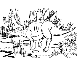 free printable stegosaurus dinosaur coloring page for kids click