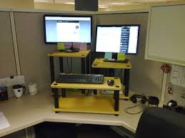 Lowes Computer Desk Diy Stand Up Desk For The Office Assemble Shelving Units From