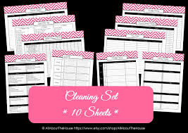 Pantry Inventory Spreadsheet The New Chevron Household Binder Set
