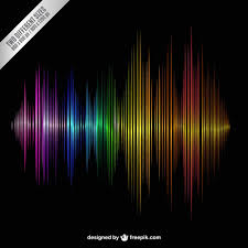 colorful sound wave vector free download