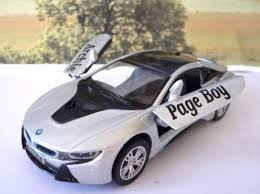 Bmw I8 Silver - childrens toys personalised wedding gifts personalised model toy