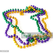 mardi gras beeds mardi gras stock photo getty images