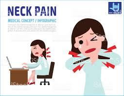 probleme icone bureau femme un cou douleur stress et problèmes de santé employé de bureau