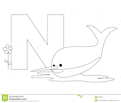 animal alphabet n coloring page royalty free stock photography