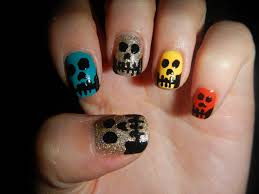 halloween nail art cutepolish spook tacular skeleton nail ideas