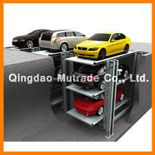 four post car underground garage basement garage perl car pit design parking system save land area mode of drive motor chain operation ic cards manual buttons