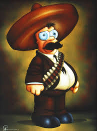 homer simpson homer simpson as emiliano zapata portrait oil painting portrait on