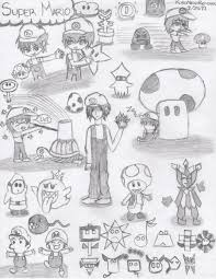 super mario sketches by kuronekorei chan on deviantart