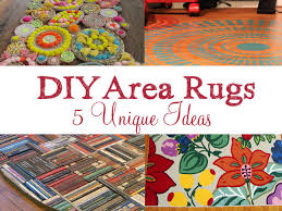 How To Make A Area Rug 5 Unique Diy Area Rug Ideas