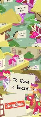 Burma Shave Meme - my little brony burma shave my little pony friendship is