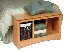 bedroom storage bench drawers or shelves sleek natural wooden
