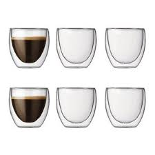 bicchieri vetro set 4 bicchieri termici doppia parete doppio vetro per t礙 caff礙