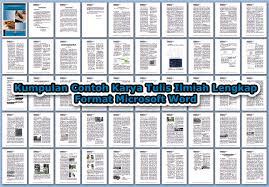artikel format paper ilmiah kumpulan contoh karya tulis ilmiah lengkap format microsoft word
