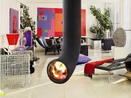 decoration choose different style of suspended fireplace
