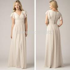 modest bridesmaid dresses chiffon modest bridesmaids dresses with fluttering sleeves sheath