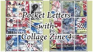 collage pocket letter using collage zine 4 youtube