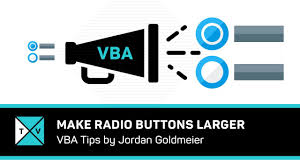 how to make radio buttons larger with excel vba youtube