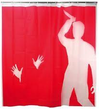Shower Curtains With Red Psycho Shower Curtain By Kikkerland Funny Blood Gift Plastic