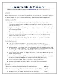 Failure Analysis Engineer Resume Rf Optimization Engineer Resume Docx