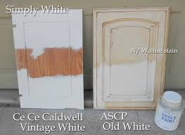 How To Antique Kitchen Cabinets With White Paint Using Chalk Paint For Oak Kitchen Cabinets Test Door U2013 Front