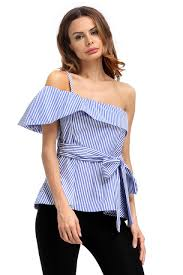 maternity blouse 2017 fashion maternity blouse blue white stripe asymmetric
