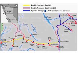 Gas Map Systems Map Pacific Northern Gas