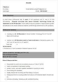 Currently Working Resume Format Collection Of Solutions Sample Resume Format For Experienced