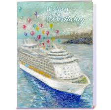 cruise ship ballons birthday greeting card by the of j