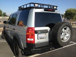 land rover lr3 off road lr3 rear bumper with tire carrier u2013 lucky 8 parts and accesories