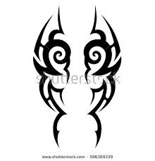 skull tribal tattoo vector illustration stock vector 340283183