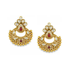 gold earrings online buy antara chandbali gold earring for women online best gold