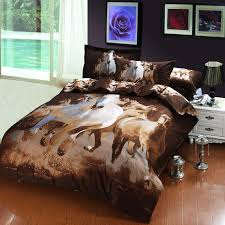 oil painting galloping horse egyptian cotton bedding bedspreads for full queen size beds with duvet quilt cover sheet 4 comforter sets queen duvet sets