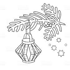 coloring page outline of christmas decoration paper flashlight
