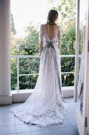 non white wedding dresses elie saab grey wedding gown the wedding scoop spotlight coloured