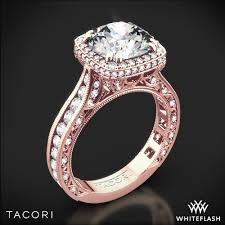 rose style rings images Tacori royalt cushion style bloom diamond engagement ring 3081 jpg