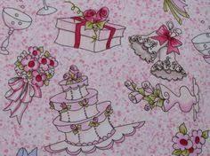 wedding theme novelty cotton fabric quilt 5 yard yards fabrics