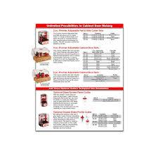 Kitchen Cabinet Door Router Bits Freud 3 Piece Premier Adjustable Cabinet Router Bit Set Ogee