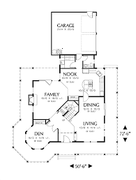 Vernon 2614 3 Bedrooms And 2 Baths The House Designers 16 X 50 Floor Plans