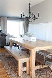 Farm Tables With Benches Diy Farmhouse Table Love Grows Wild