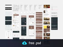10 free ui templates for android lollipop and ios 8 ux ui design