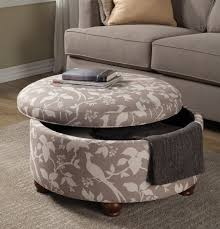 Grey Fabric Storage Ottoman Grey White Fabric Storage Ottoman Caravana Furniture