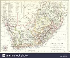 Colonial Africa Map by Colonial South Africa Cape Colony Orange Free State Sa Republic