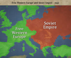 Cold War Map Of Europe by The Cold War
