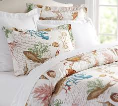 Fish Duvet Cover Sea Life Coastal Duvet Cover U0026 Sham Pottery Barn